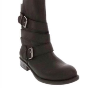 New In Box Ladies Black Moto Boots